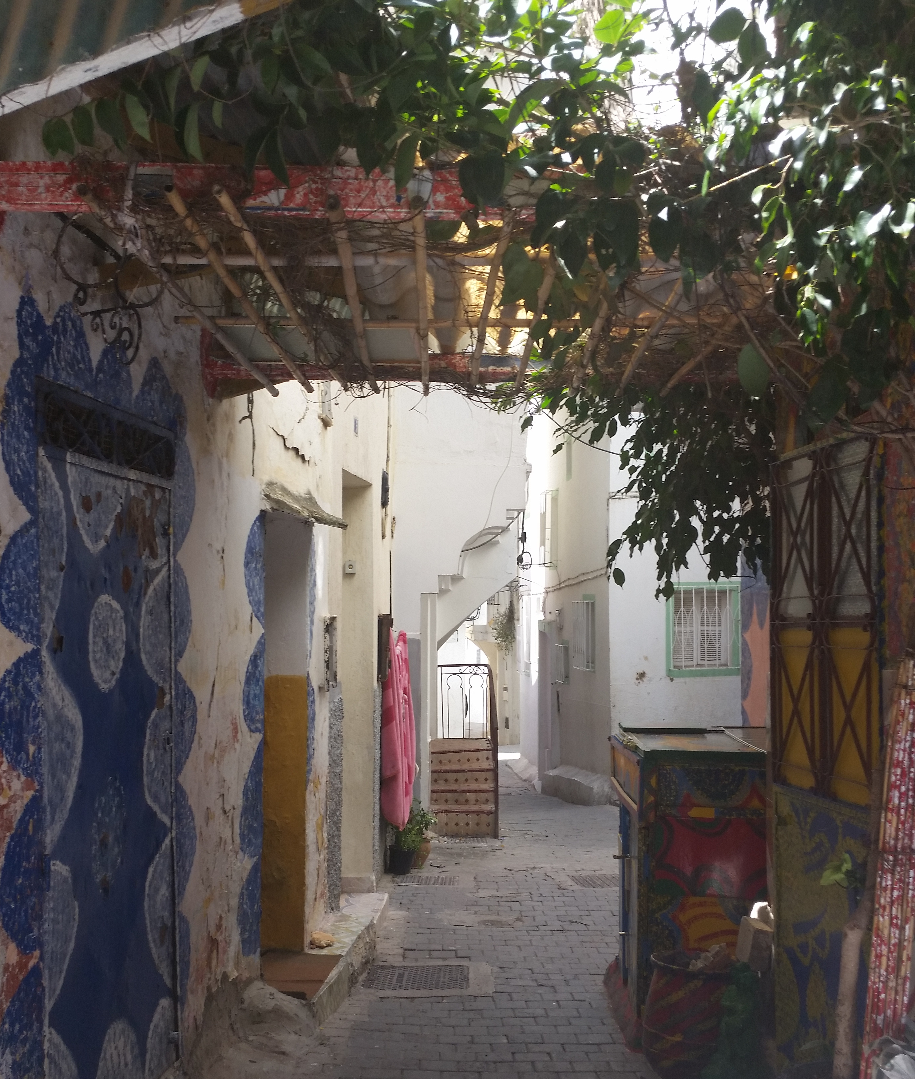 A colourful alley in Tanger, Morocco