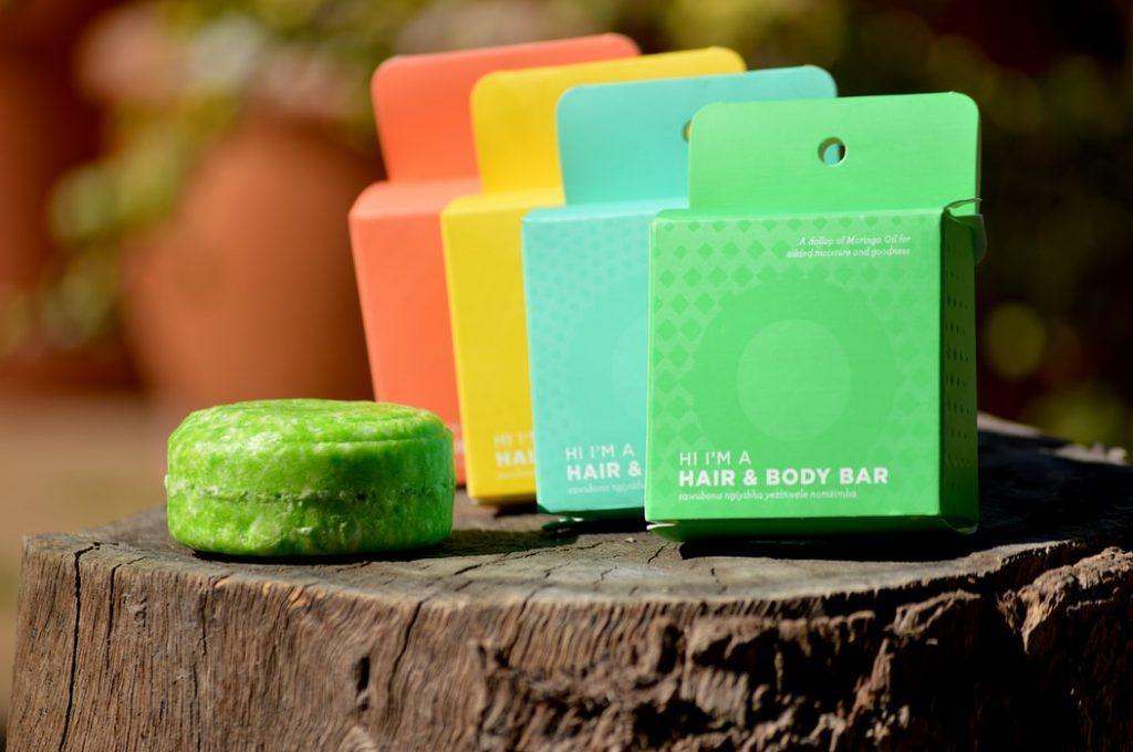 a selection of zero-waste plastic free shampoo bars