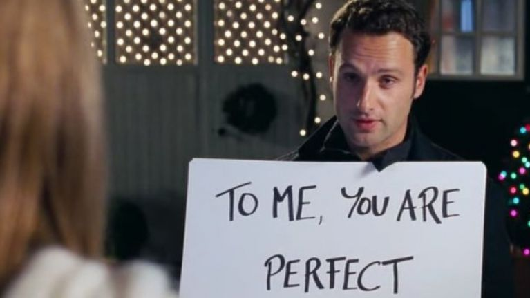 Signs from Love Actually - christmas movies