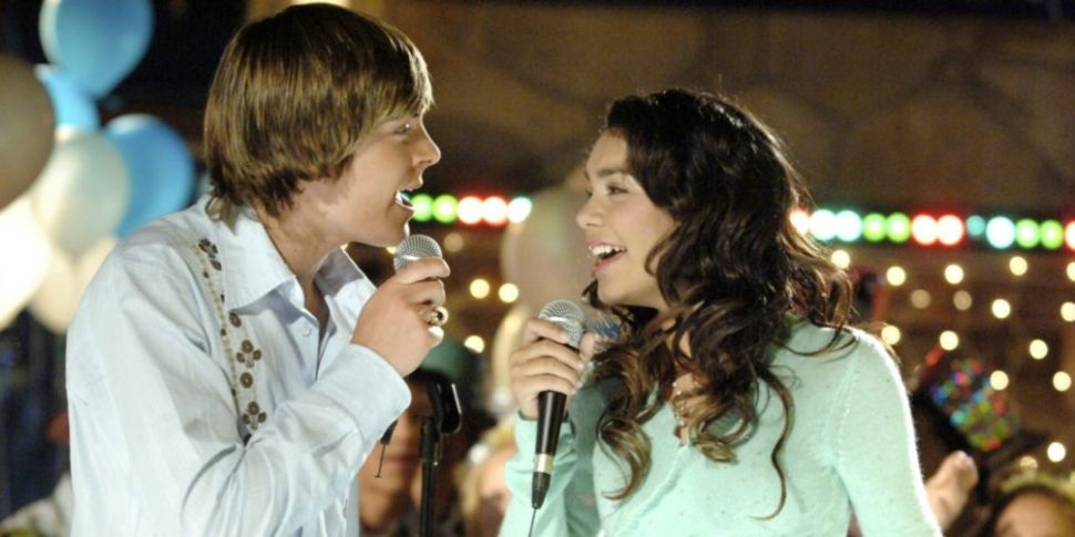 Troy and Gabriela in High School Musical singing karaoke on New Year's Eve