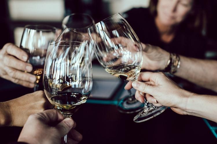 a wine toast