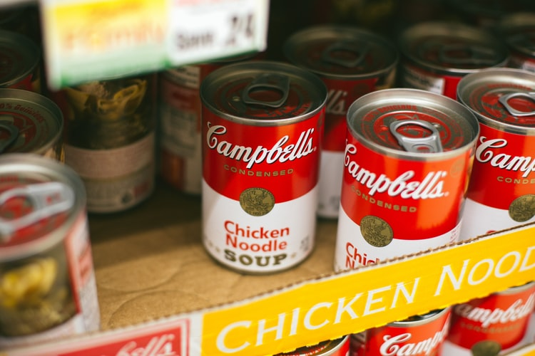 chicken noodle soup cans for donation - How to clean up after Christmas in an eco-friendly way